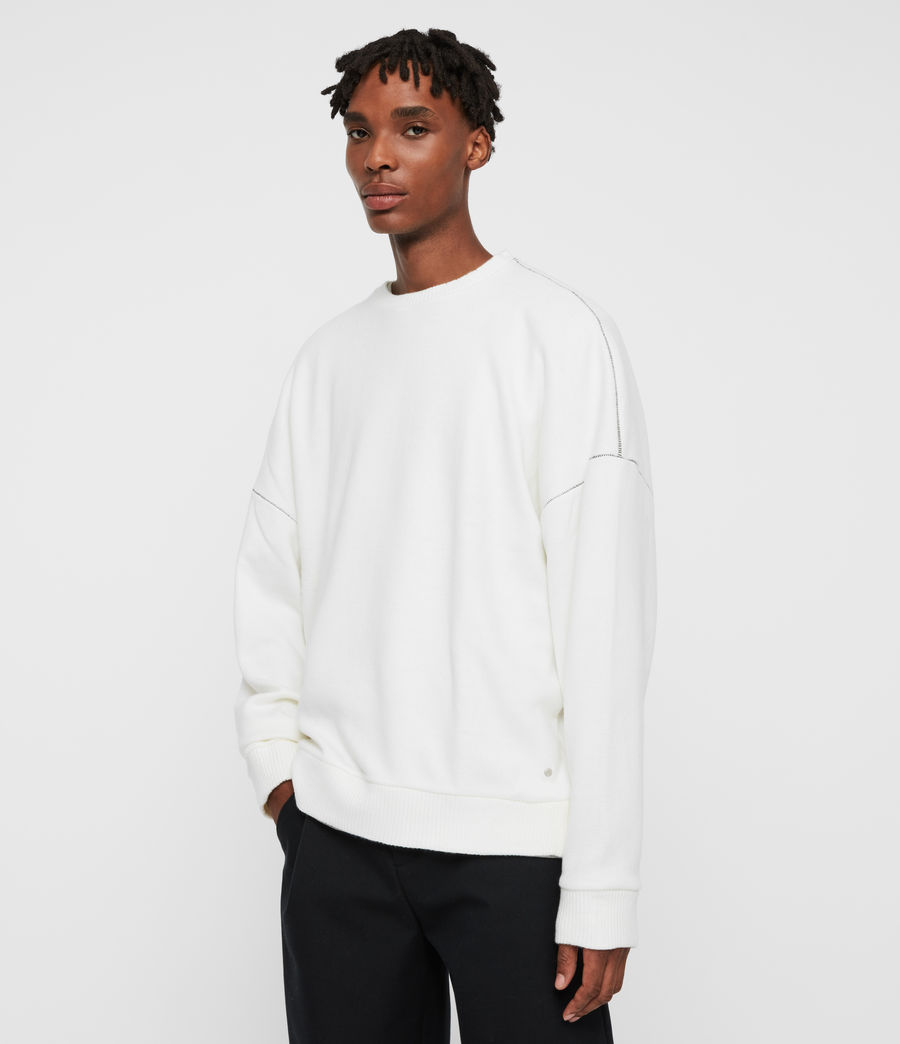 Men's Warren Crew Sweatshirt (ecru_white) - Image 4