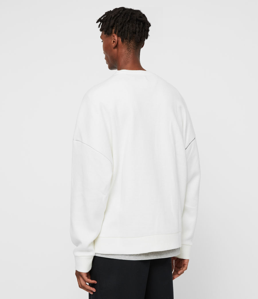 Men's Warren Crew Sweatshirt (ecru_white) - Image 6