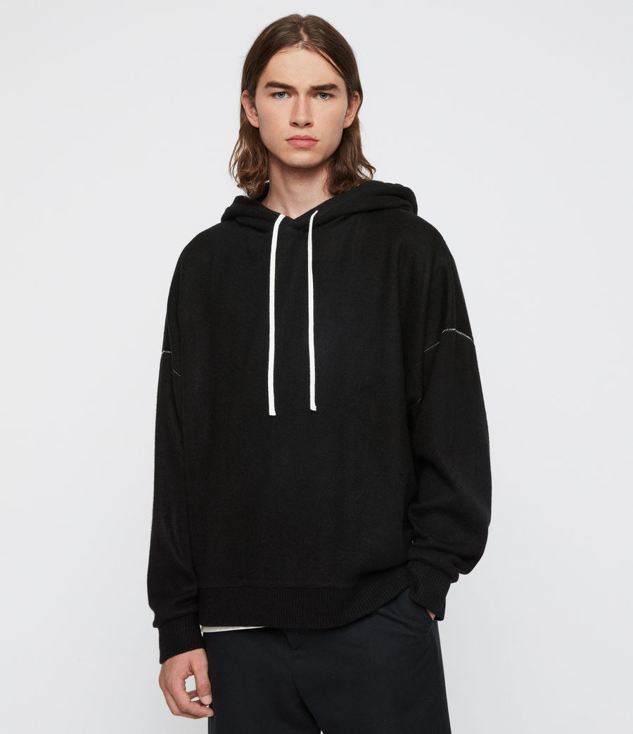 Men's Warren Hoodie (black_marl) - Image 1