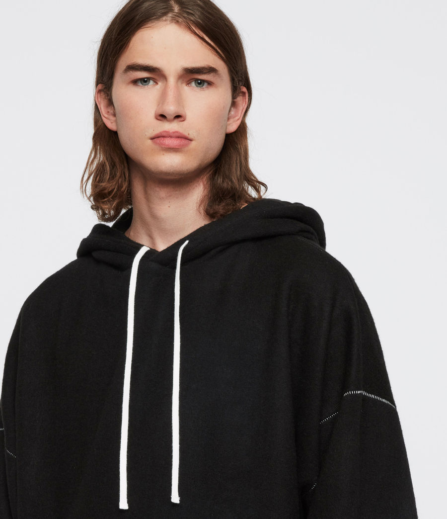 Men's Warren Hoodie (black_marl) - Image 2