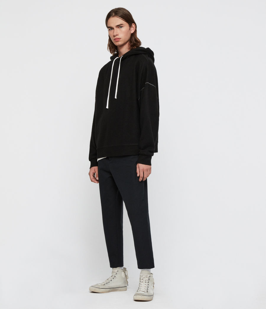 Men's Warren Hoodie (black_marl) - Image 3