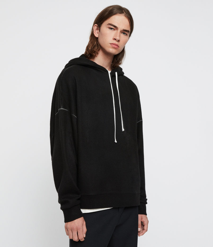 Men's Warren Hoodie (black_marl) - Image 4