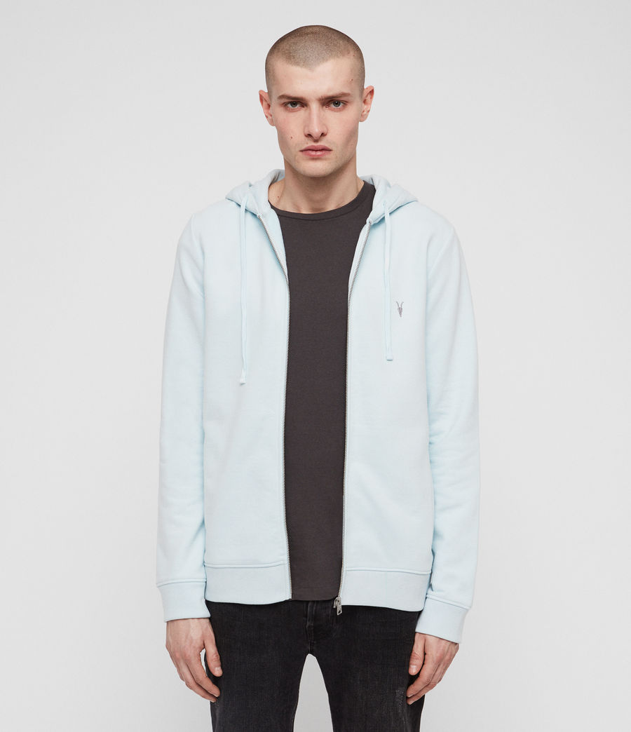 Men's Raven Zip Hoodie (light_aqua_blue_ml) - Image 1