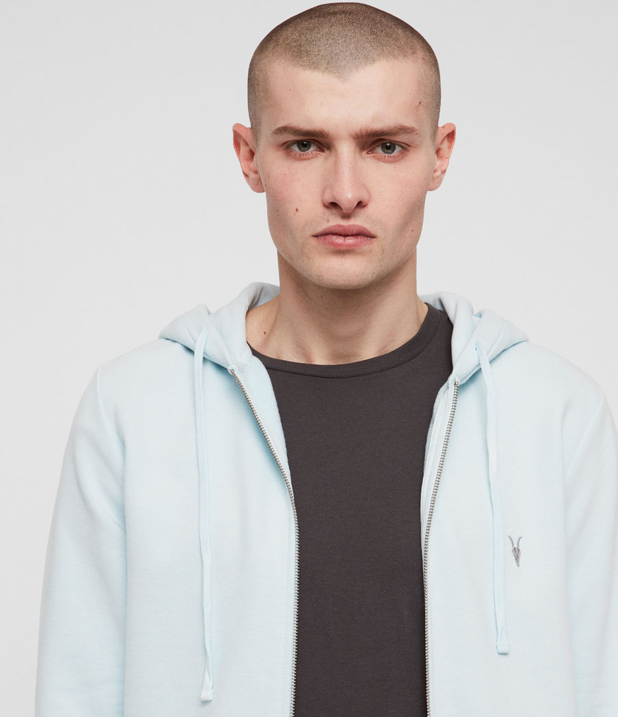 Herren Raven Zip Hoodie (light_aqua_blue_ml) - Image 2