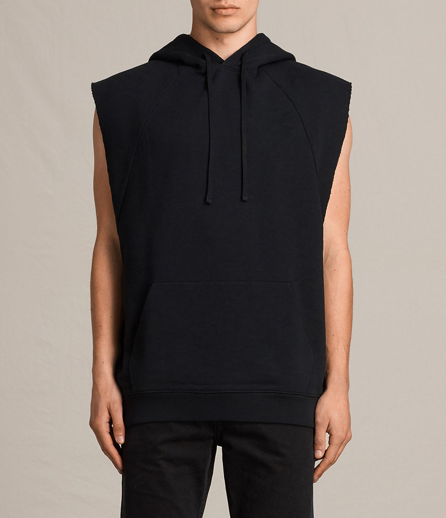 Men's Kinley Sleeveless Hoodie (jet_black) - Image 1