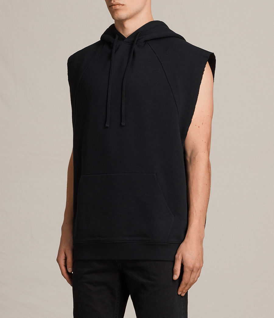 Men's Kinley Sleeveless Hoodie (jet_black) - Image 2