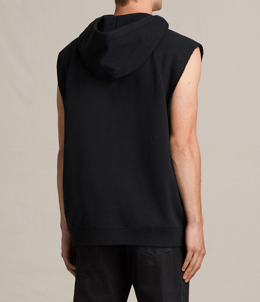 Men's Kinley Sleeveless Hoodie (jet_black) - Image 3