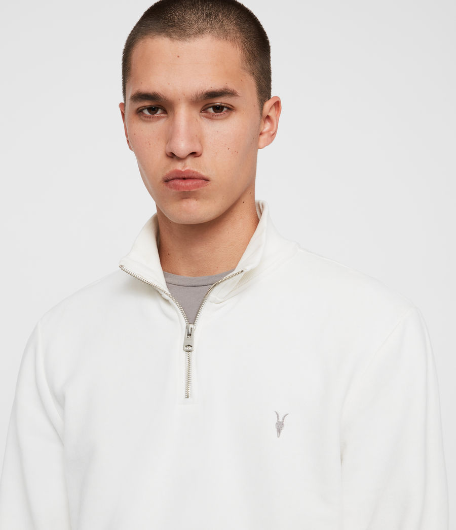 Men's Raven Half Zip Funnel Sweatshirt (chalk_white) - Image 2