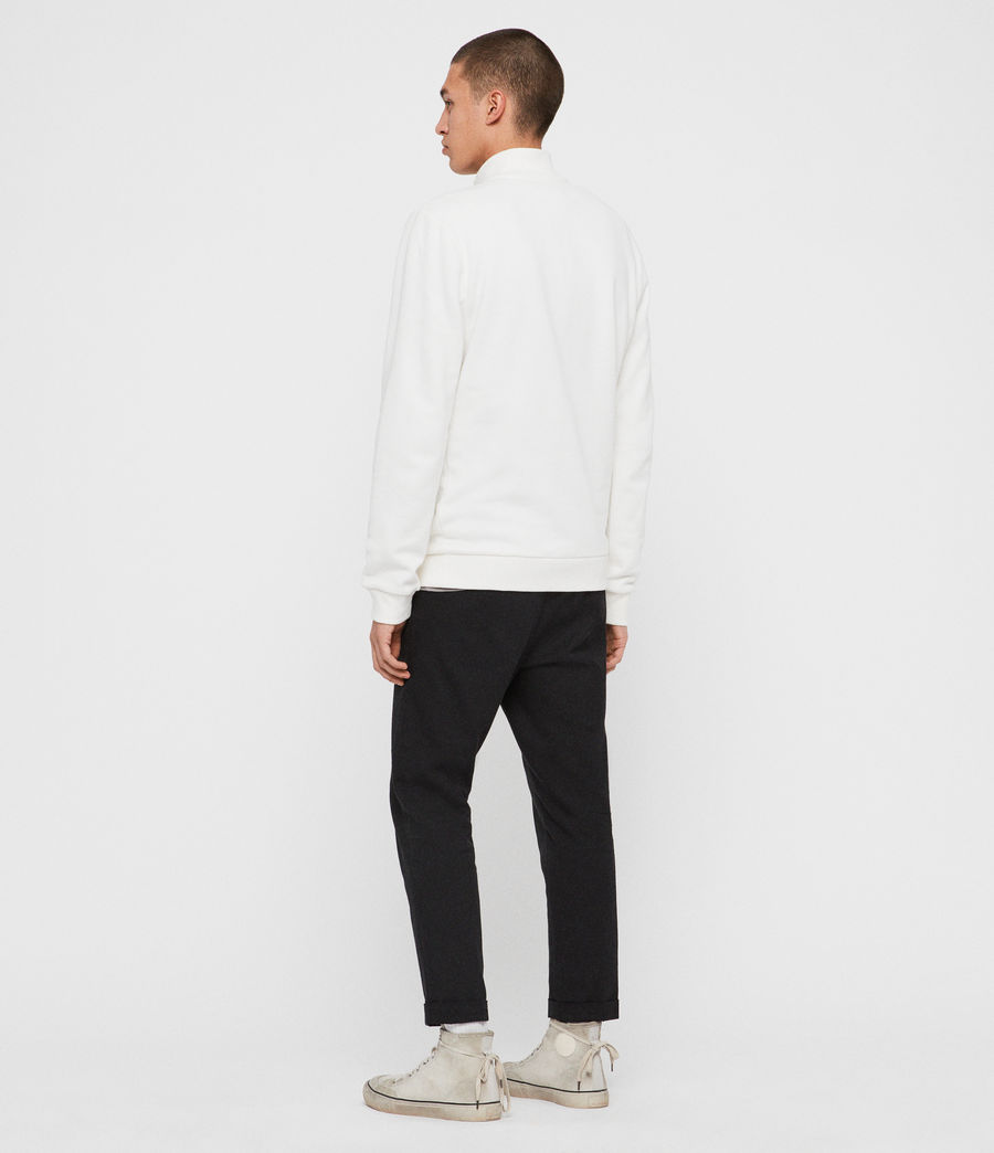 Men's Raven Half Zip Funnel Sweatshirt (chalk_white) - Image 6