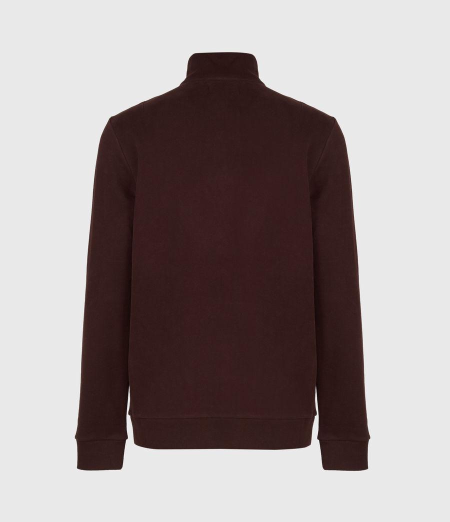 Hommes Raven Half Zip Funnel Neck Sweatshirt (oxblood_red) - Image 3