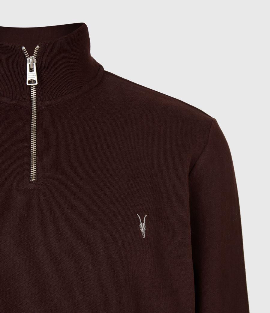 Hommes Raven Half Zip Funnel Neck Sweatshirt (oxblood_red) - Image 4