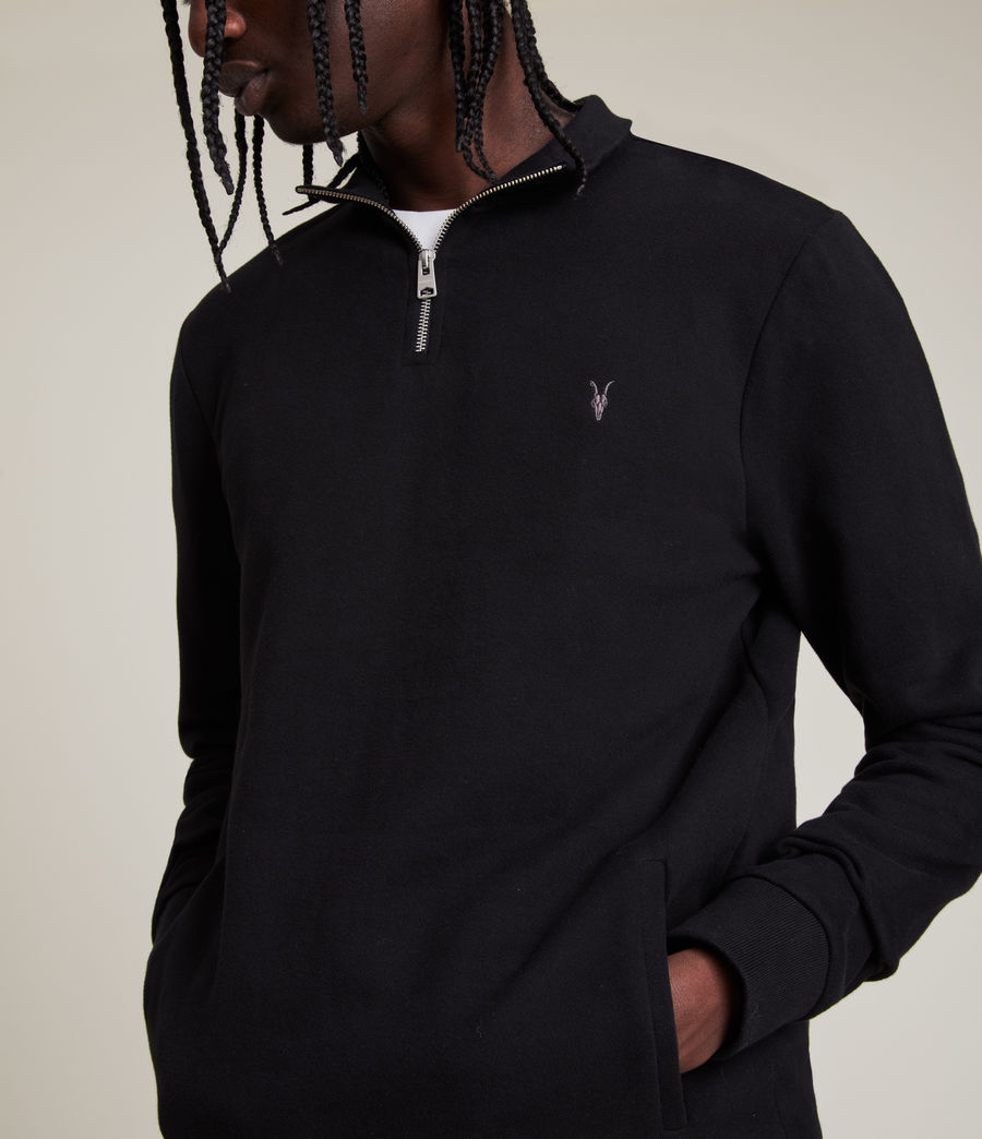 Men's Raven Half Zip Funnel Sweatshirt (jet_black) - Image 2