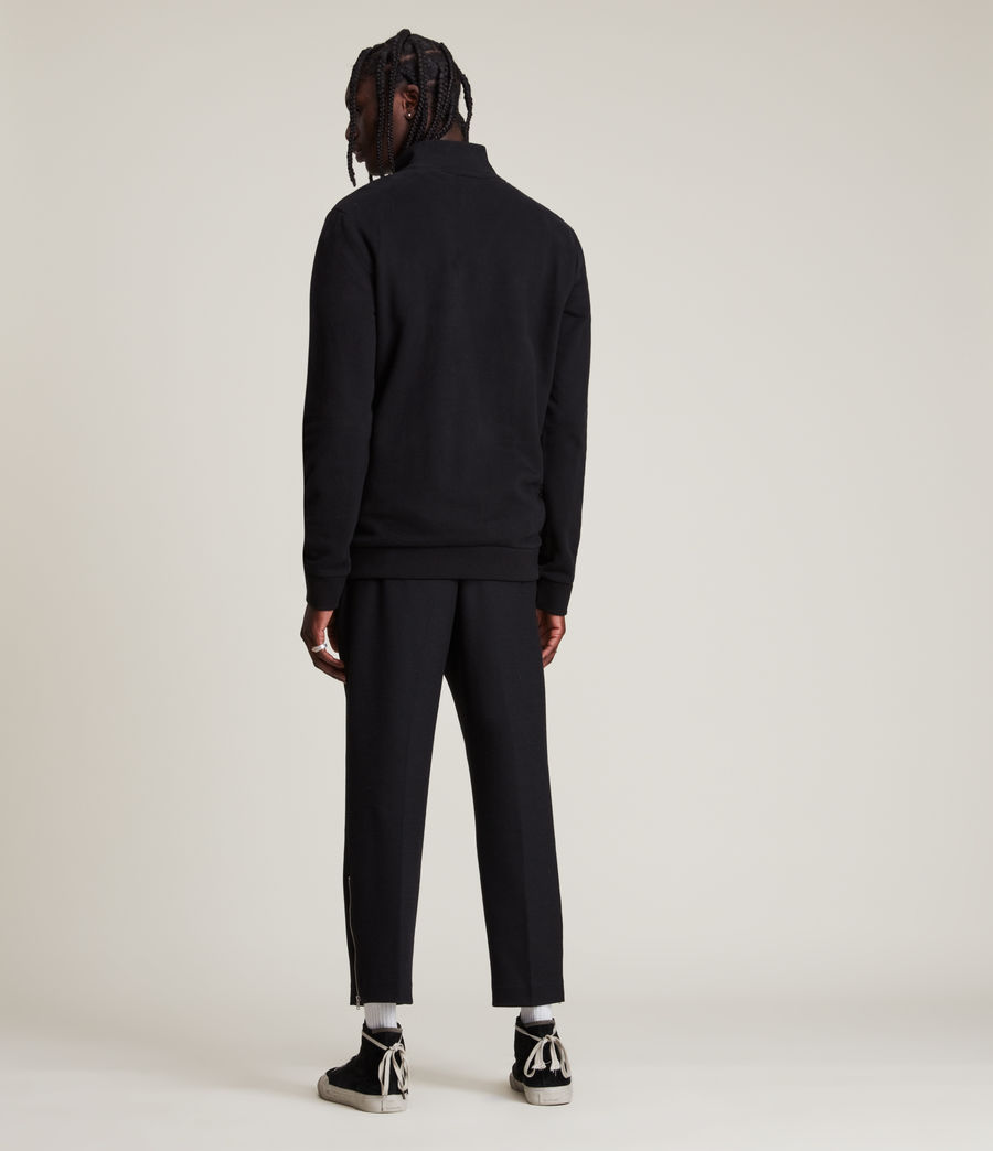 Men's Raven Half Zip Funnel Sweatshirt (jet_black) - Image 4