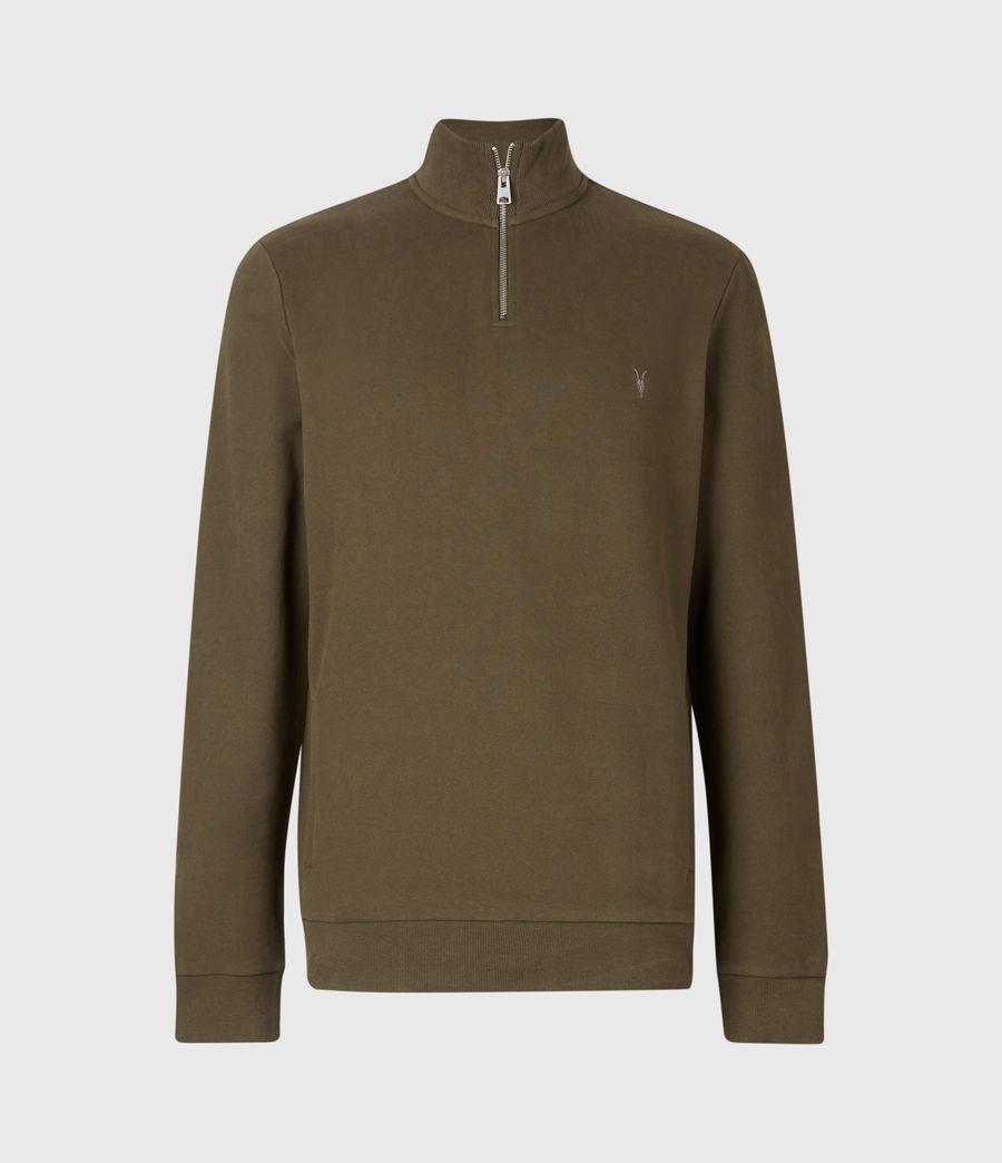 Mens Raven Half Zip Funnel Neck Sweatshirt (seaweed_green) - Image 1