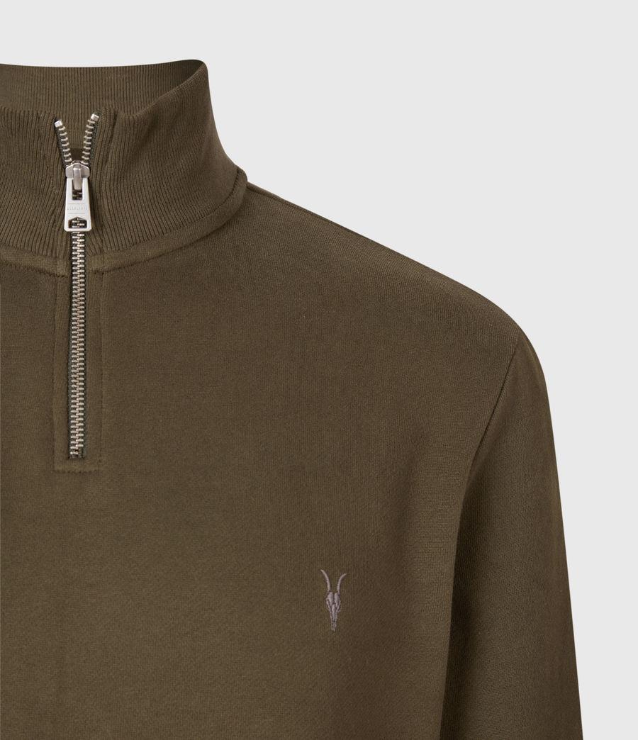 Hommes Raven Half Zip Funnel Neck Sweatshirt (seaweed_green) - Image 4