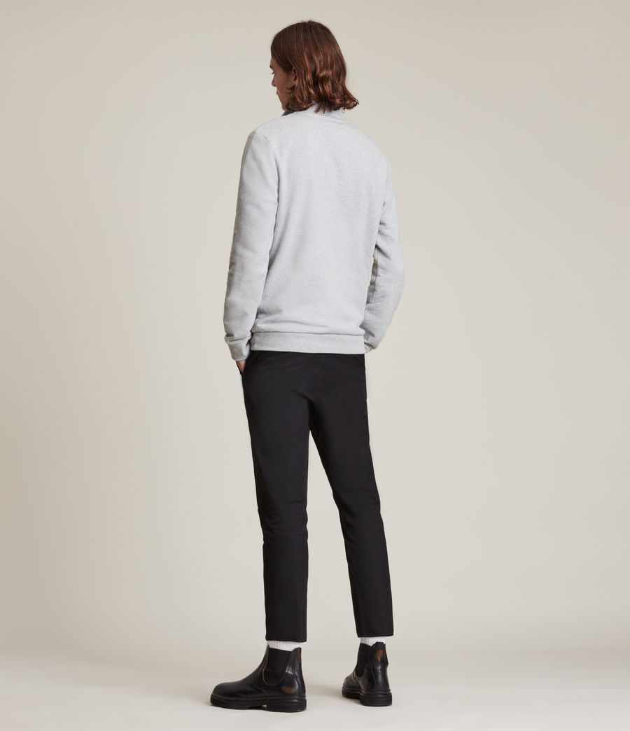 Men's Raven Half Zip Funnel Neck Sweatshirt (grey_marl) - Image 3