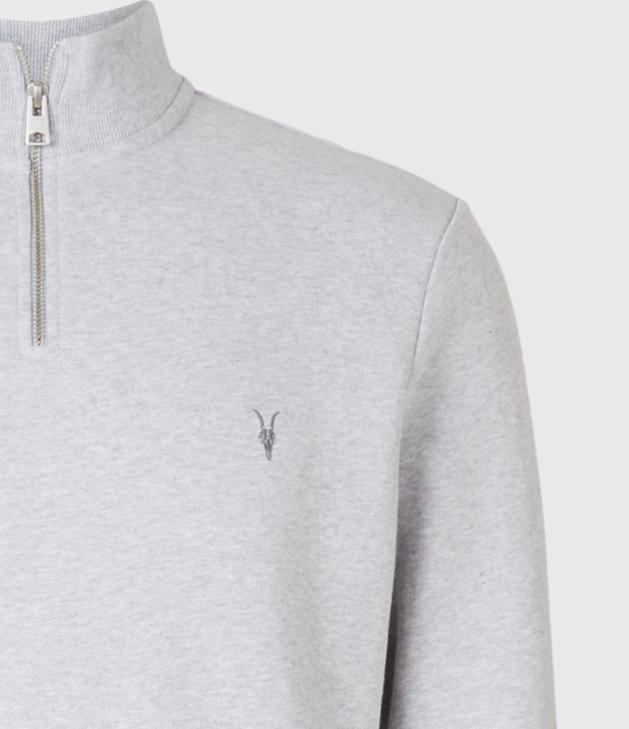 Men's Raven Half Zip Funnel Neck Sweatshirt (grey_marl) - Image 4