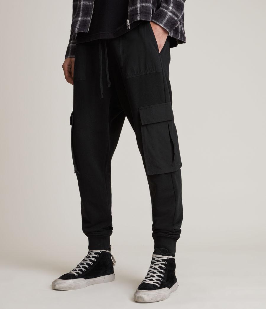 Men's Ash Cuffed Slim Sweatpants (black) - Image 2