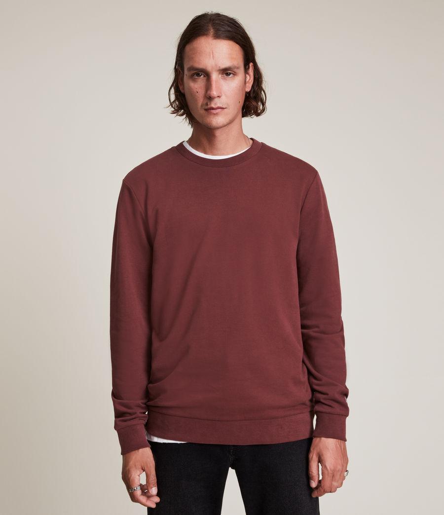 Herren Haste Crew Sweatshirt (charred_red) - Image 1