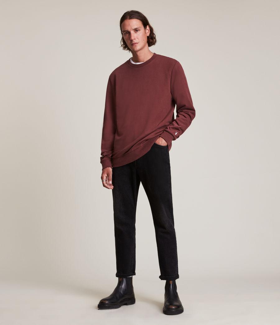 Herren Haste Crew Sweatshirt (charred_red) - Image 3