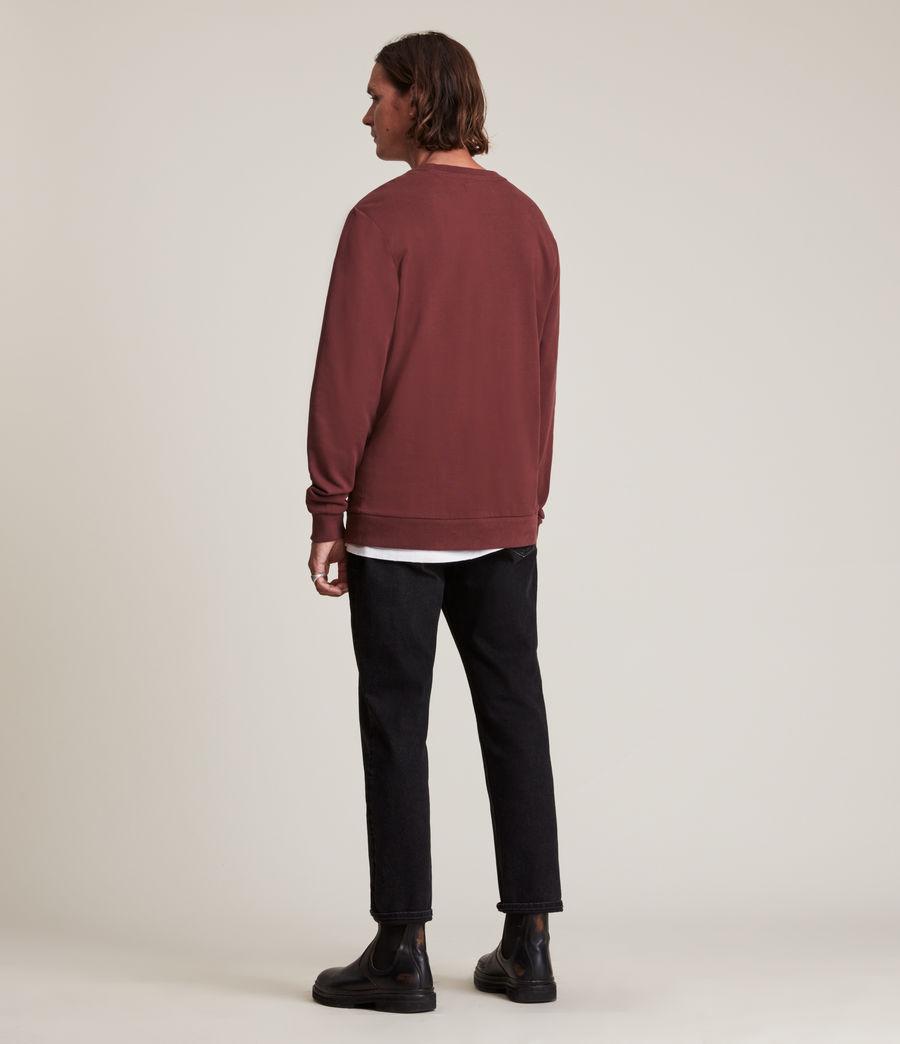 Herren Haste Crew Sweatshirt (charred_red) - Image 4