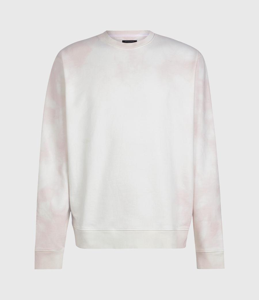 Herren Kyle Tie Dye Crew Sweatshirt (chalk_white_pink) - Image 1