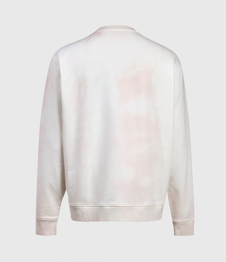 Herren Kyle Tie Dye Crew Sweatshirt (chalk_white_pink) - Image 2