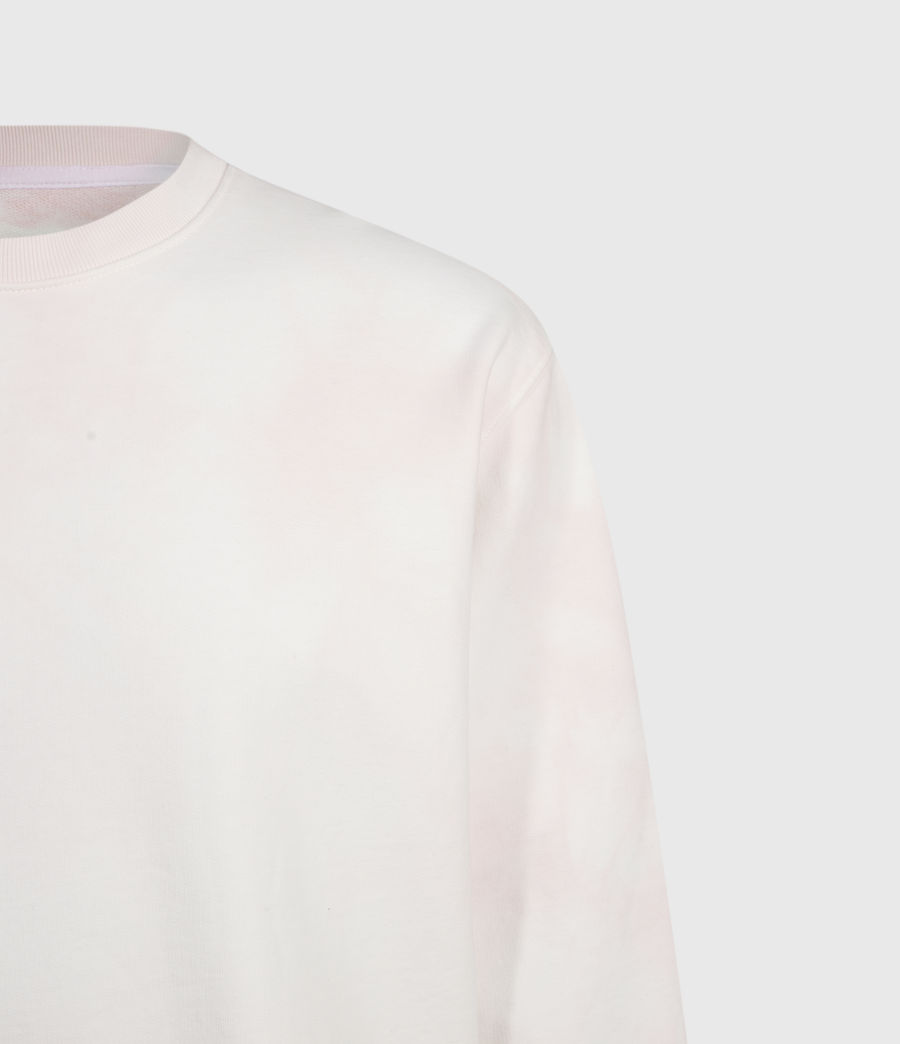 Herren Kyle Tie Dye Crew Sweatshirt (chalk_white_pink) - Image 3
