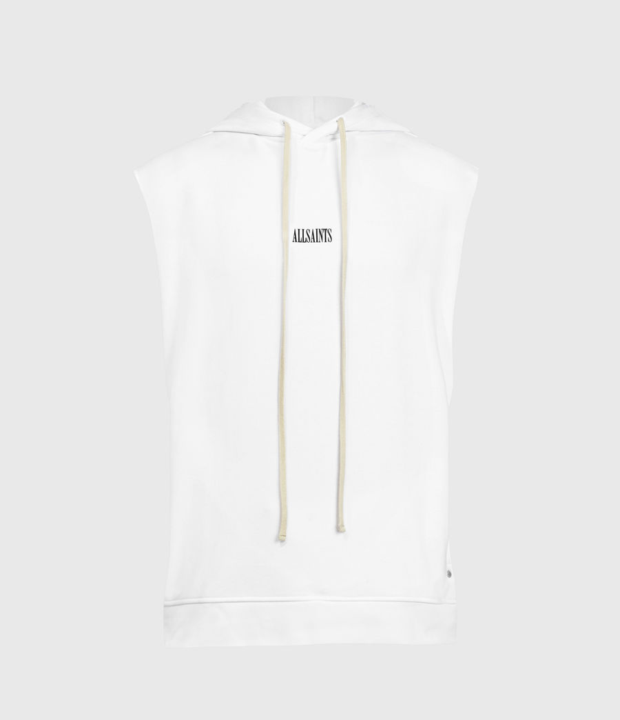 Men's State Sleeveless Hoodie (optic_white) - Image 1