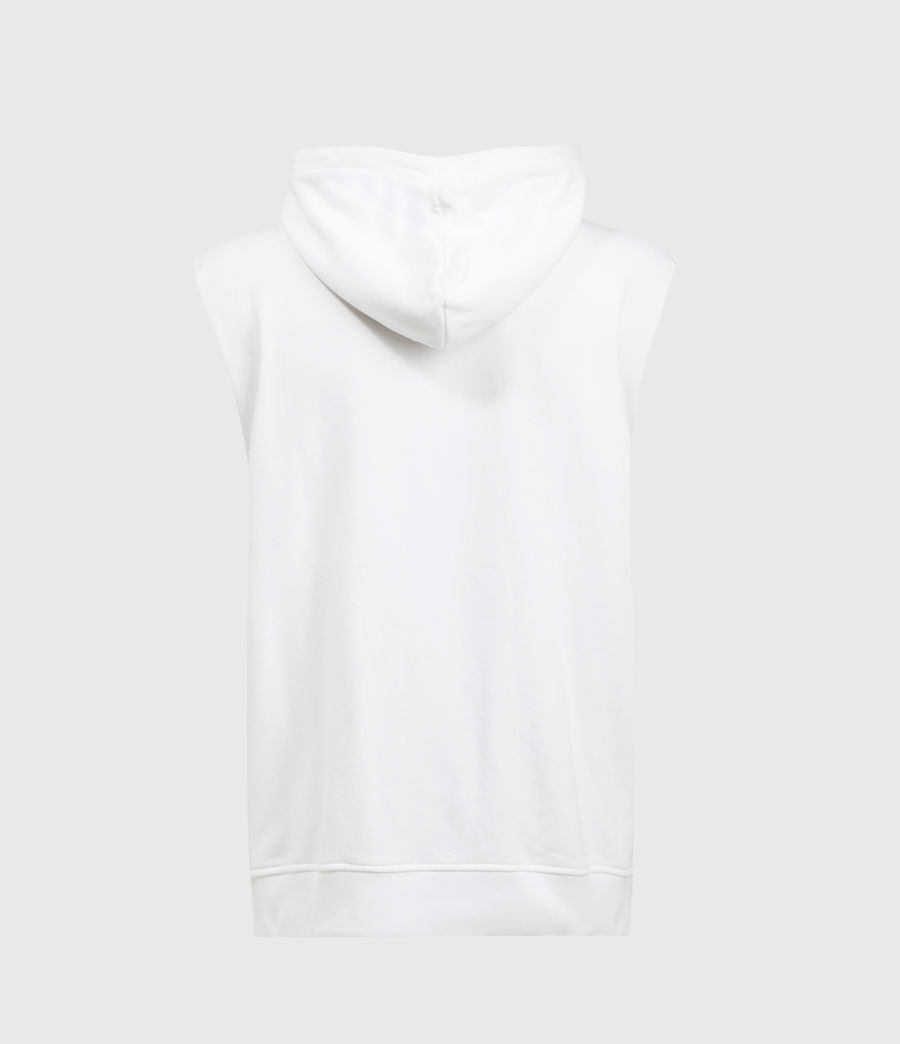 Men's State Sleeveless Hoodie (optic_white) - Image 2