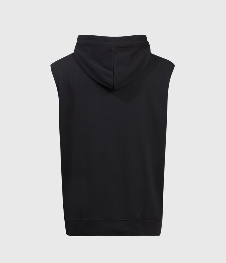 Hombres State Sleeveless Hoodie (jet_black) - Image 2