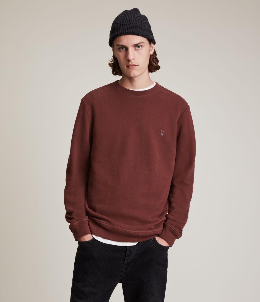 Herren Raven Crew Sweatshirt (damson_red) - Image 1