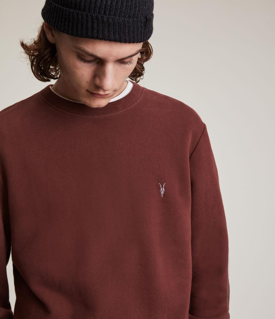 Herren Raven Crew Sweatshirt (damson_red) - Image 2