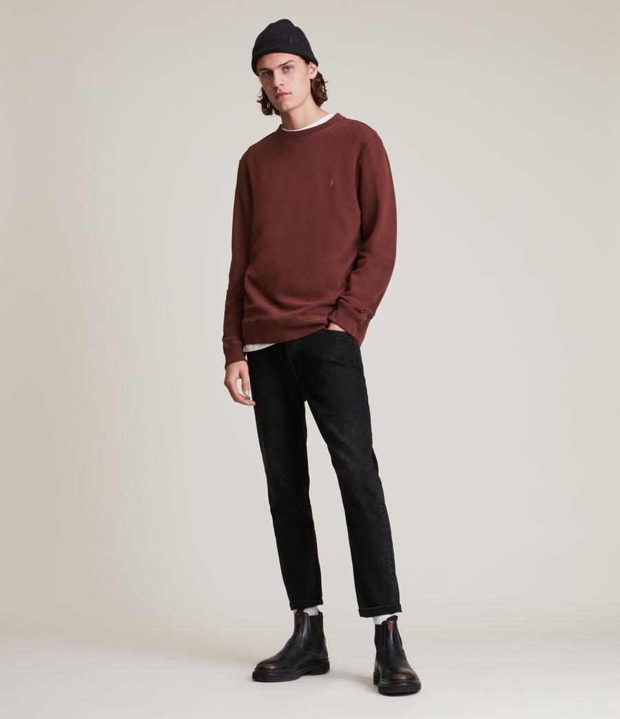Herren Raven Crew Sweatshirt (damson_red) - Image 3