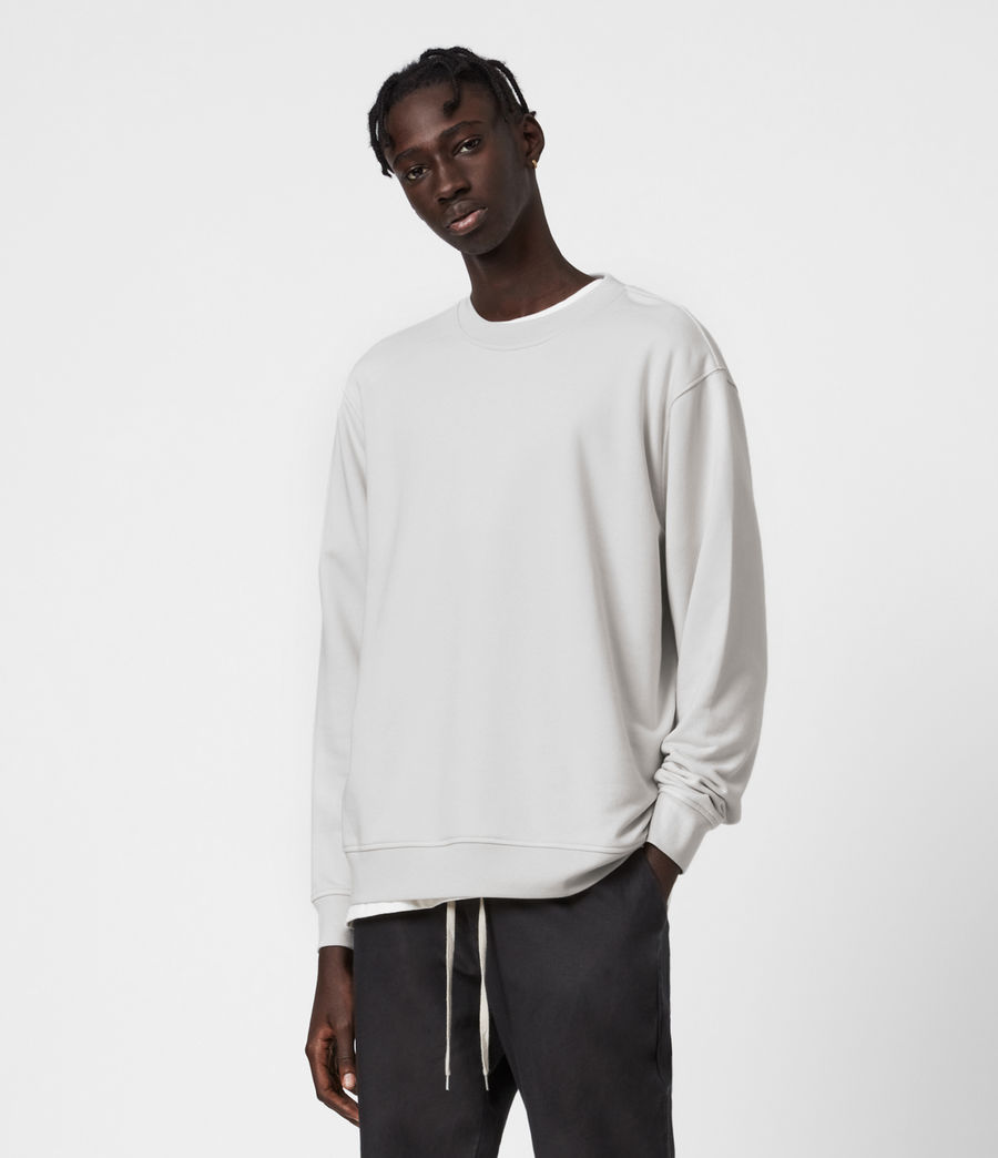 Hommes Sweat Helix (bleached_grey) - Image 1