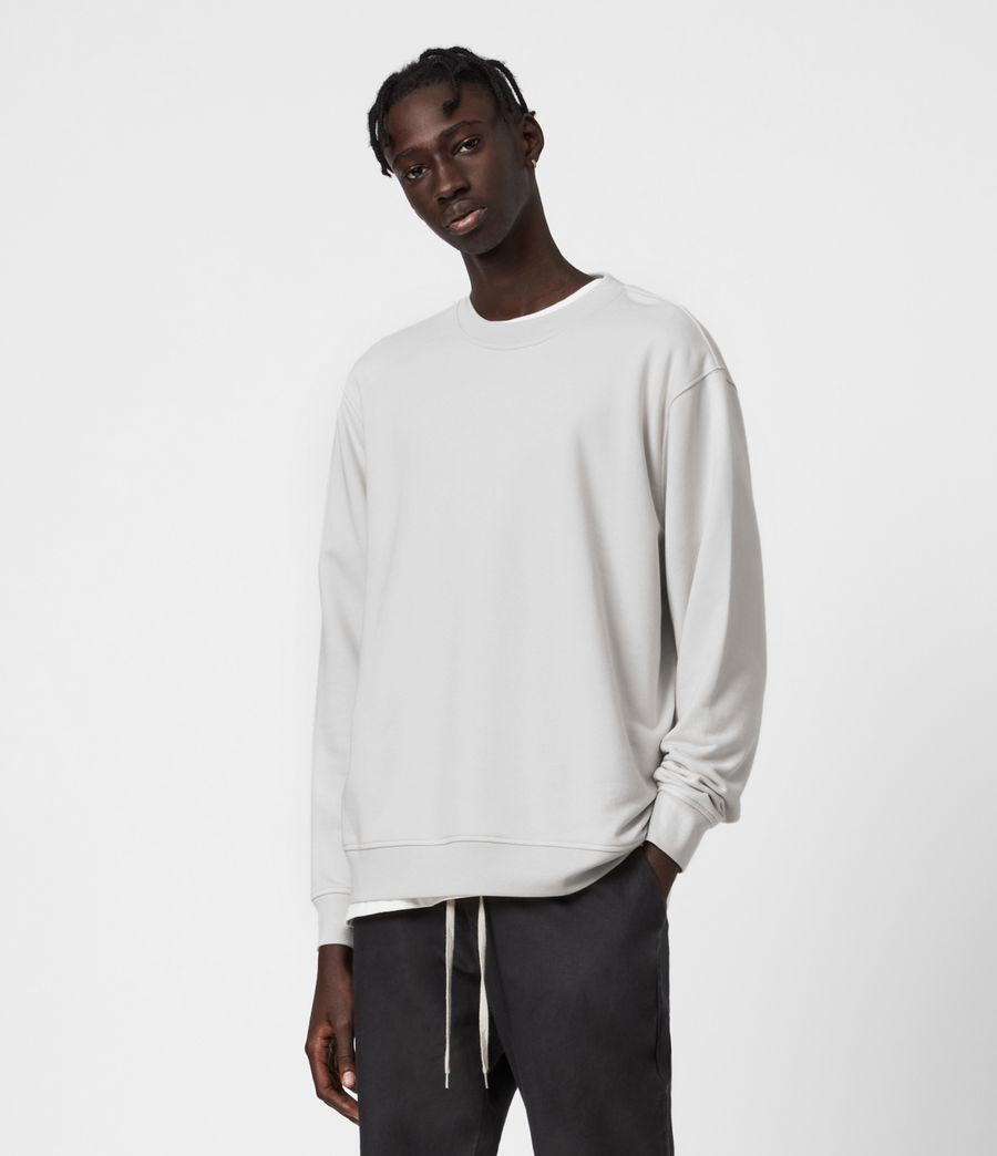 Hombres Helix Crew Sweatshirt (bleached_grey) - Image 1