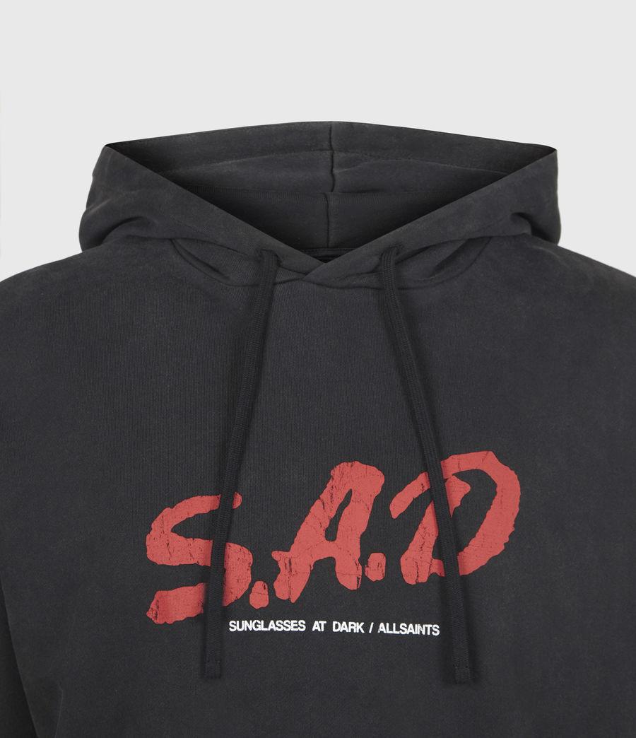 Mens Sad Hoodie (jet_black) - Image 5