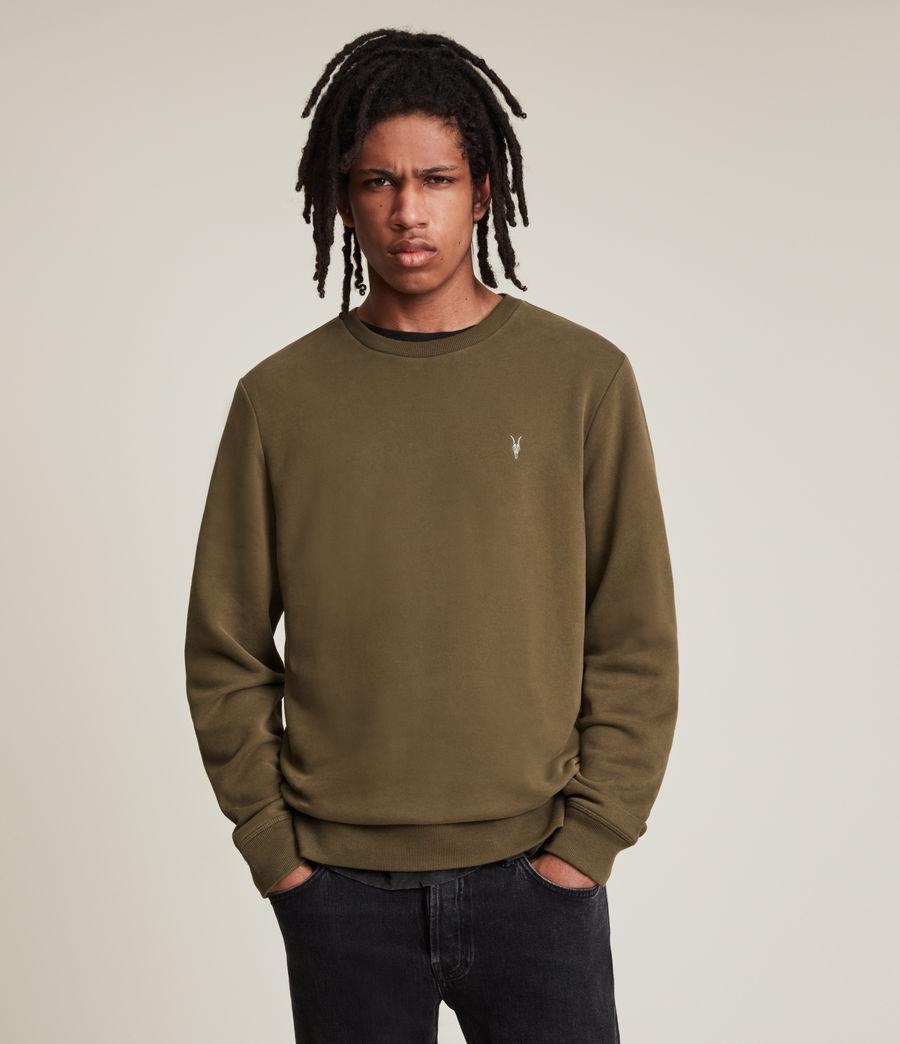 Hommes Raven Contrast Crew Sweatshirt (woodland_brown) - Image 1