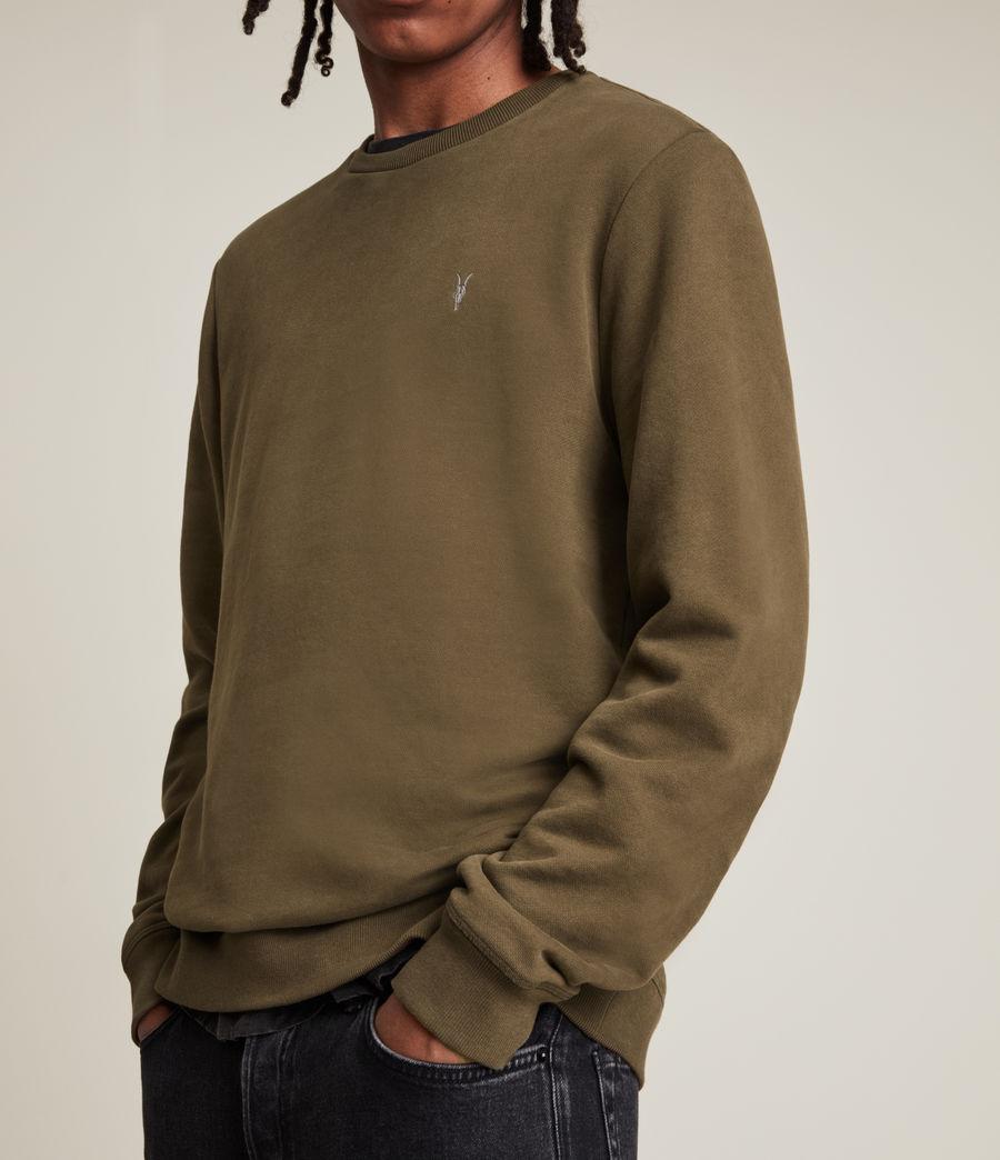 Hommes Raven Contrast Crew Sweatshirt (woodland_brown) - Image 2