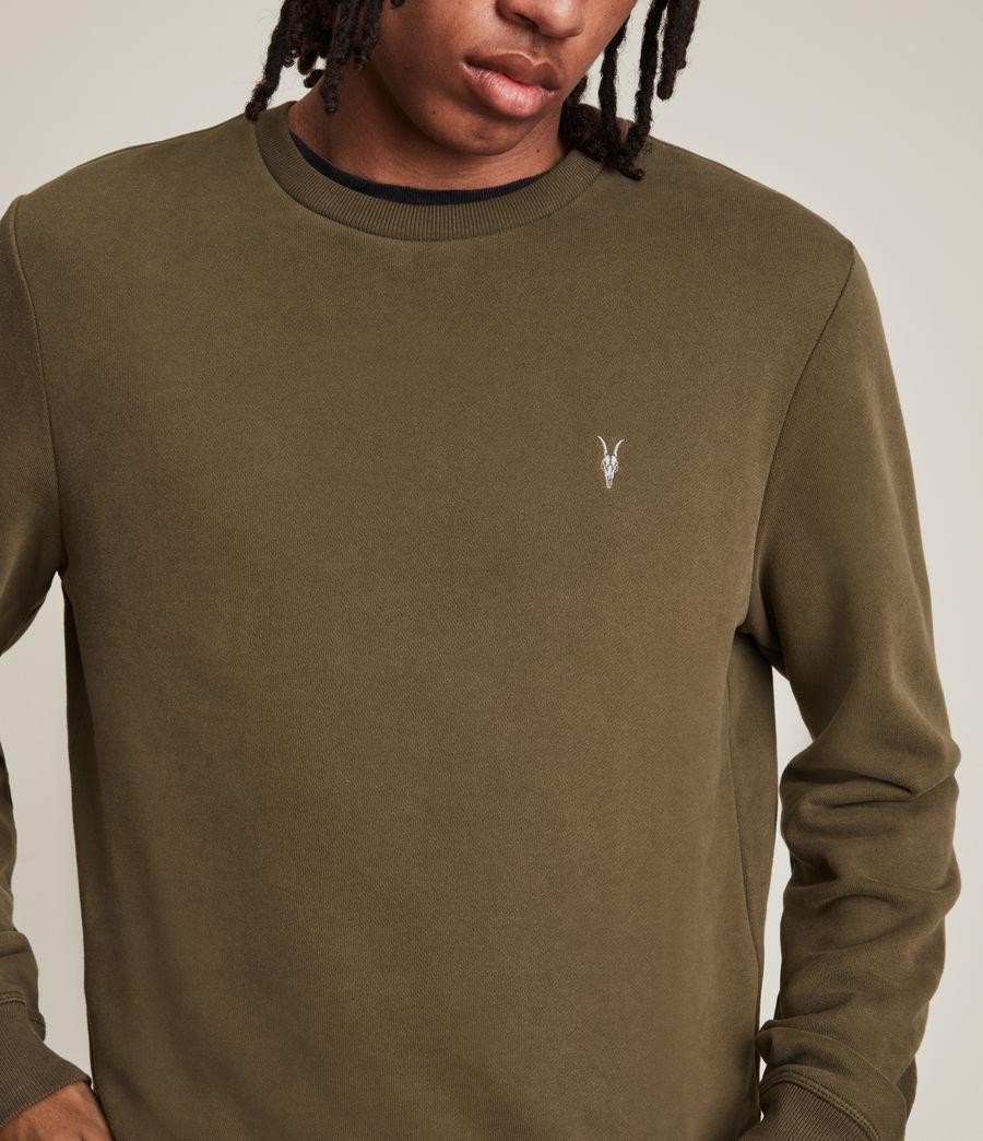 Hommes Raven Contrast Crew Sweatshirt (woodland_brown) - Image 4