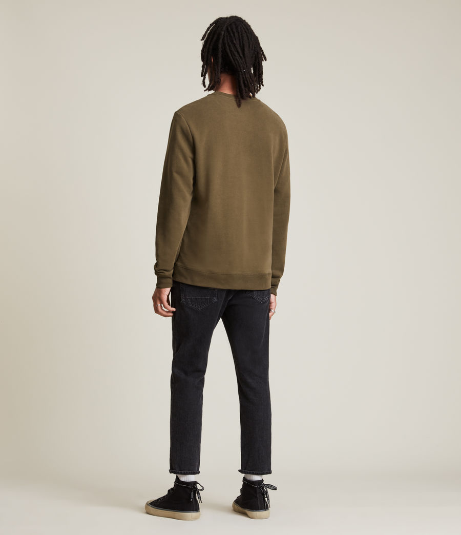 Hommes Raven Contrast Crew Sweatshirt (woodland_brown) - Image 5