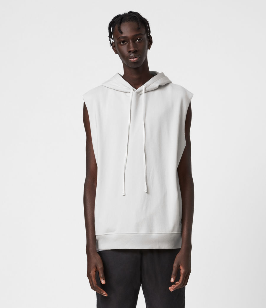 Men's Helix Sleeveless Hoodie (bleached_grey) - Image 1