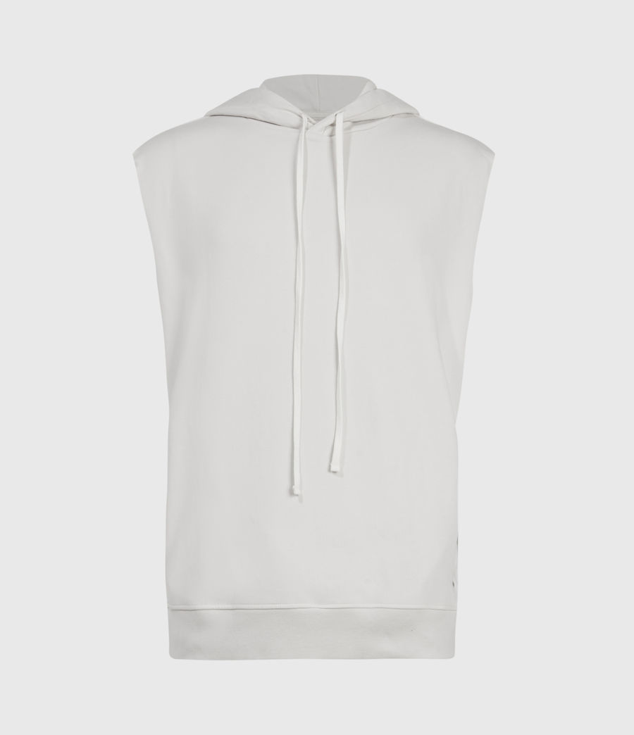 Men's Helix Sleeveless Hoodie (bleached_grey) - Image 2