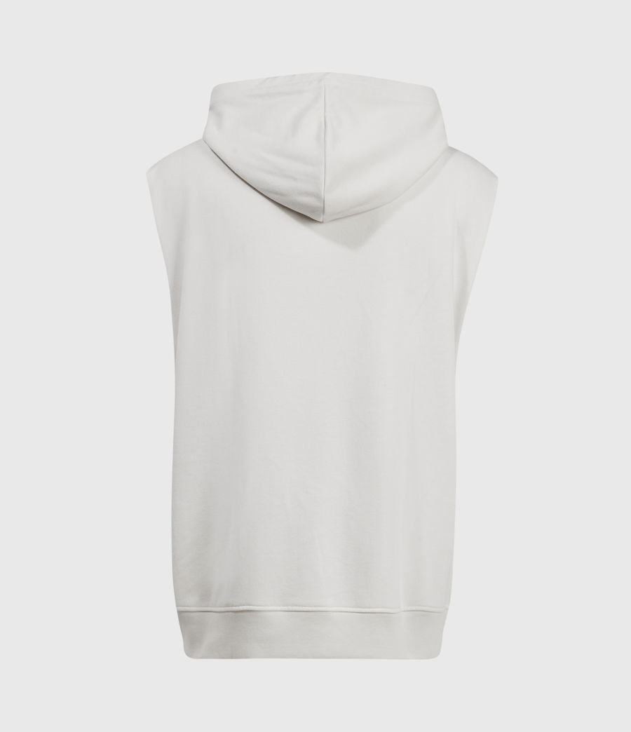Men's Helix Sleeveless Hoodie (bleached_grey) - Image 3