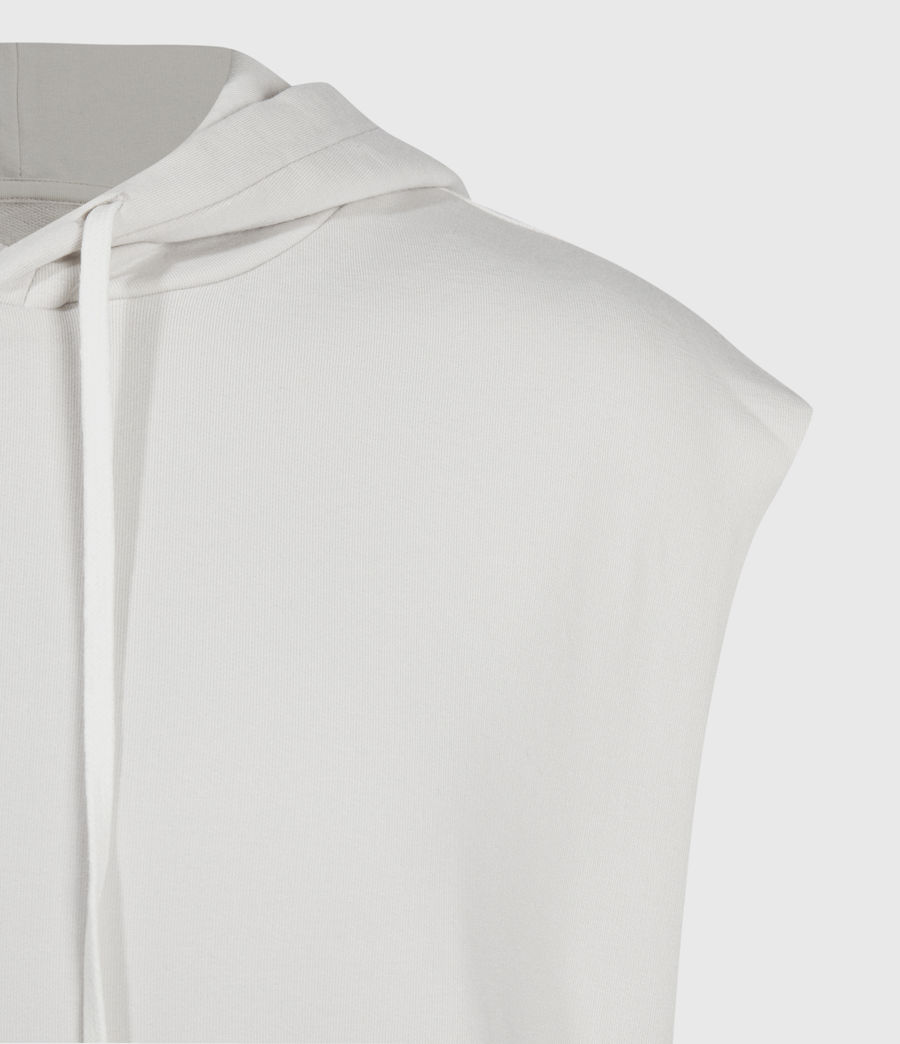 Men's Helix Sleeveless Hoodie (bleached_grey) - Image 5