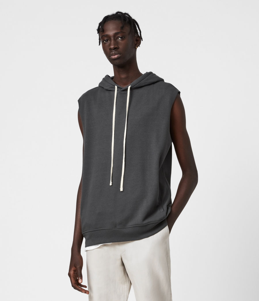 Men's Helix Sleeveless Hoodie (sidewalk_grey) - Image 1