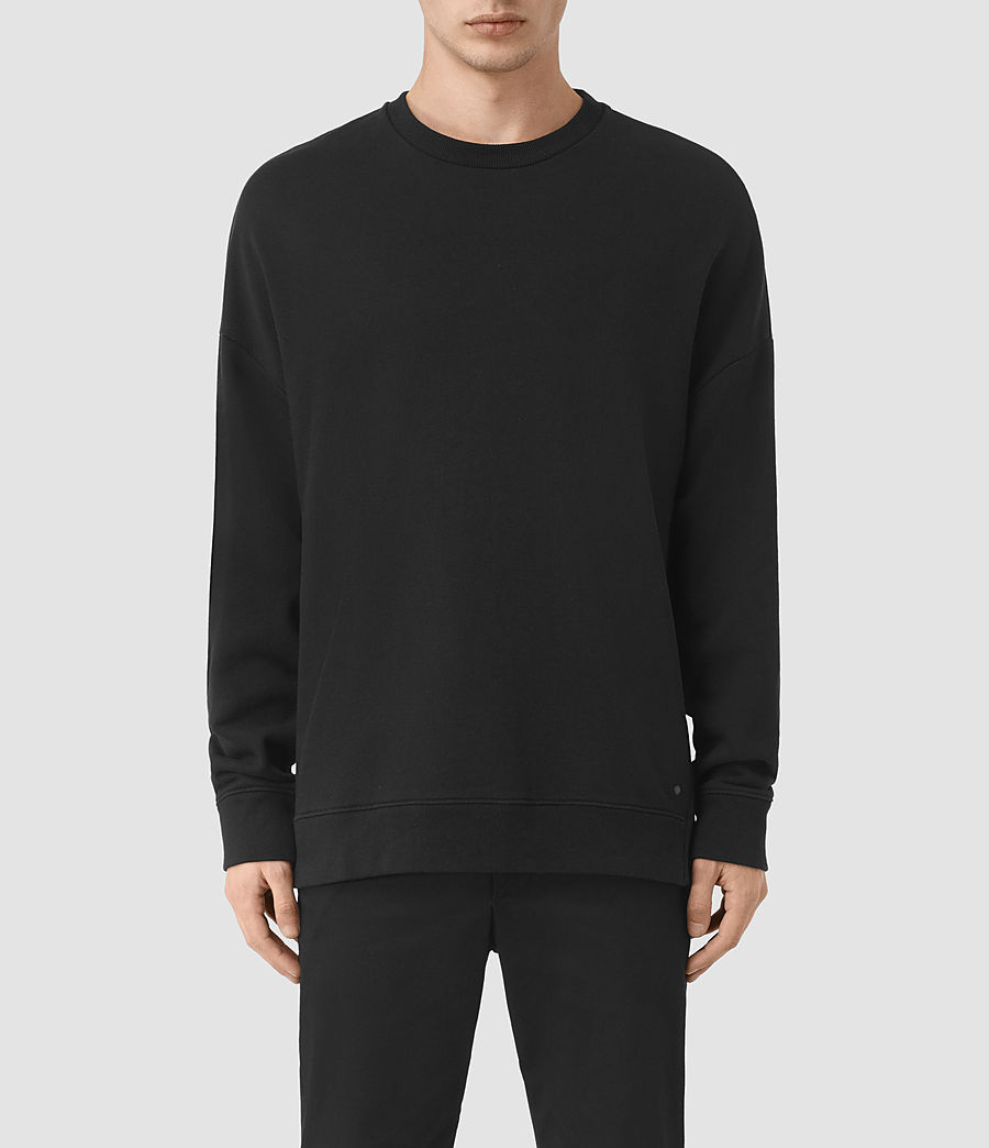 Men's Wiltson Crew Sweatshirt (jet_black) - Image 1