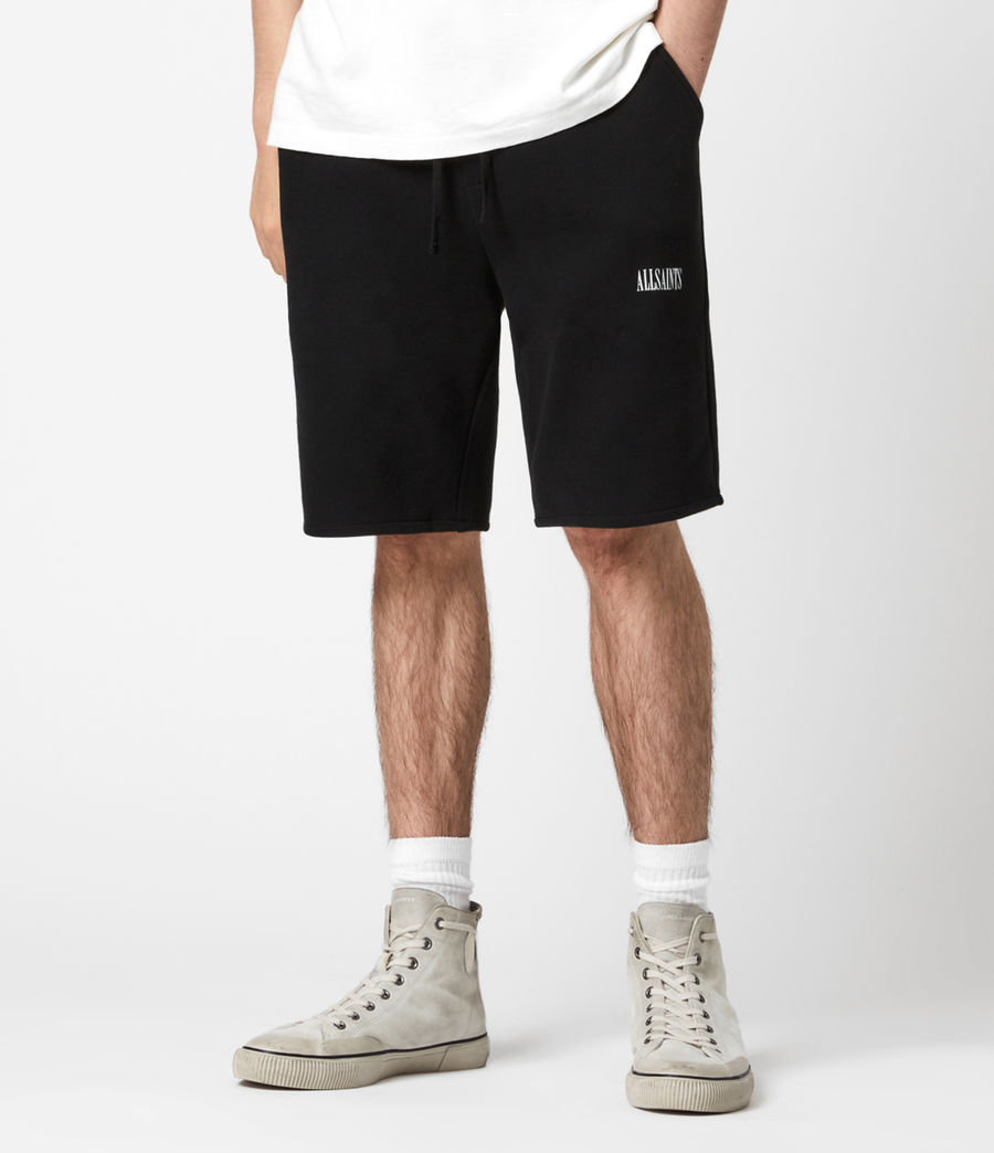 Mens State Sweat Shorts (jet_black) - Image 4