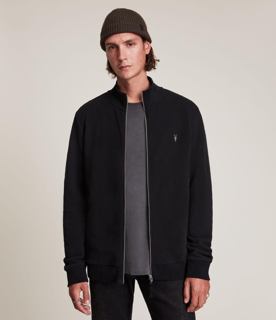 Herren Raven Zip Through Sweatshirt (black) - Image 1