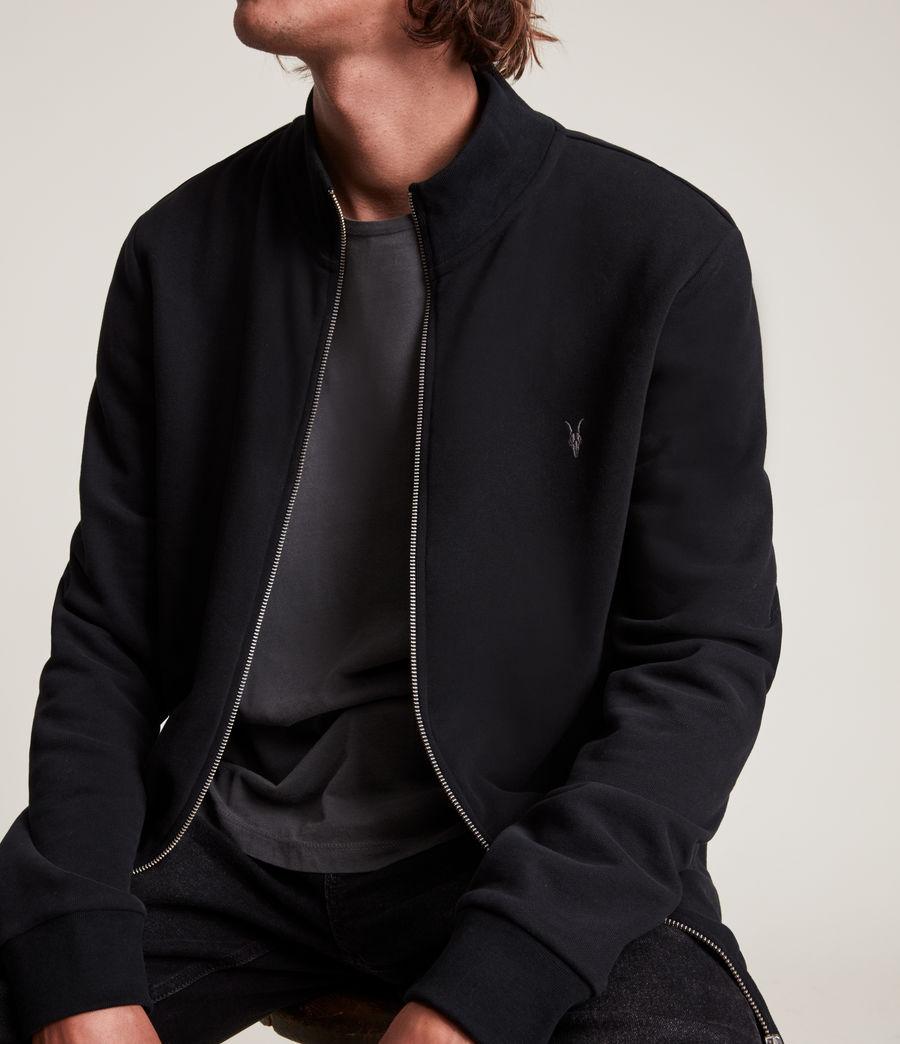 Herren Raven Zip Through Sweatshirt (black) - Image 2